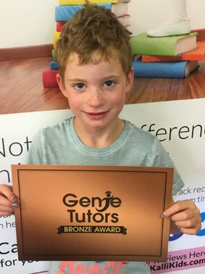 This is Ethan at Genie Tutors Bromsgrove. We are delighted with his progress in all areas - keep up the great attitude to learning.