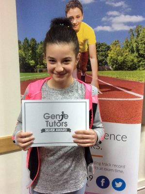 Congratulations to Maria at Genie Tutors Redditch for achieving brilliantly with Theresa in both English and maths. Keep up the great work.