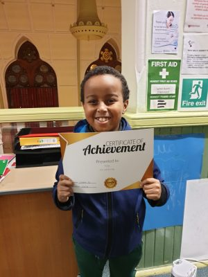 Great work Yahya! You deserve your Achievement. You made a great progress with your tutor Debbie at Genie Tutors Spring Hill!