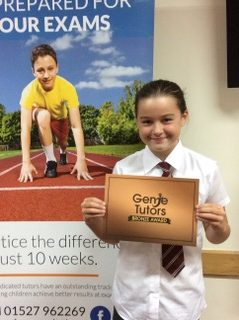 Congratulations to Millie for achieving her Bronze award at Genie Tutors Redditch. Your confidence has improved loads and we are delighted with your progress - well done!