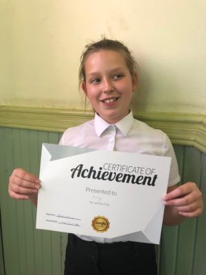 Great work Lilly! Congratulations for your reward, keep up the good woirk with your tutor at Genie Tutors Edgbaston!